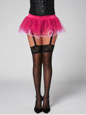 Outfits Mesh Tutu Light Up Cosplay Party Skirt - ONE SIZE TUTTI FRUTTI Mobile