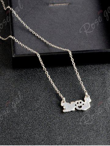 Outfits Heart Claw Footprint Love Pet Necklace - SILVER  Mobile