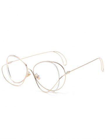 Store Anti UV Metallic Curve Surround Ombre Sunglasses TRANSPARENT