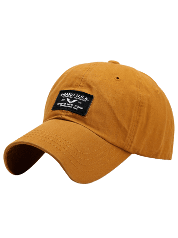 Fashion Sunscreen Letters Patchwork Baseball Cap - GINGER  Mobile