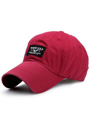 Shops Sunscreen Letters Patchwork Baseball Cap BRIGHT RED