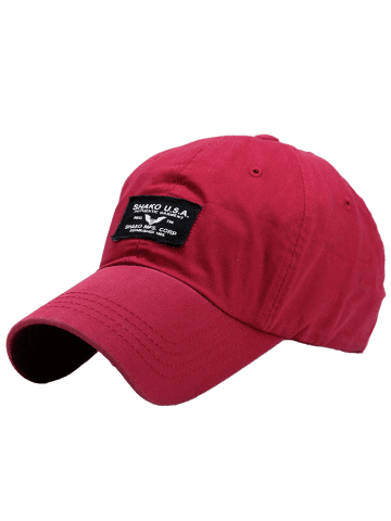 Fancy Sunscreen Letters Patchwork Baseball Cap - BRIGHT RED  Mobile