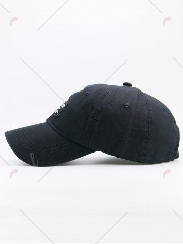 Trendy Sunscreen Letters Patchwork Baseball Cap - BLACK  Mobile