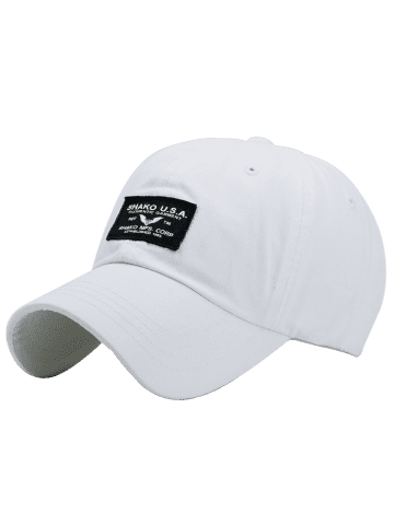 Trendy Sunscreen Letters Patchwork Baseball Cap - WHITE  Mobile