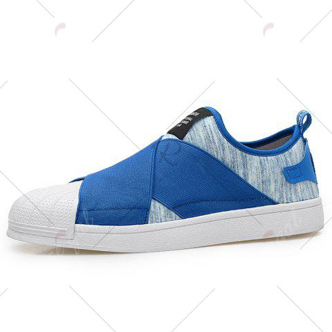 Fashion Elastic Band Stretch Fabric Casual Shoes - 43 BLUE Mobile