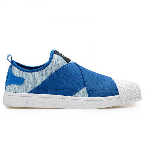 Shops Elastic Band Stretch Fabric Casual Shoes - 43 BLUE Mobile