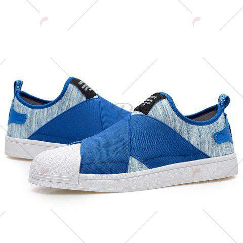 Hot Elastic Band Stretch Fabric Casual Shoes - 43 BLUE Mobile