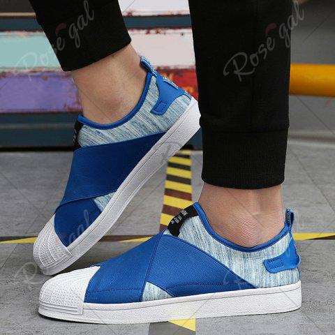 Outfit Elastic Band Stretch Fabric Casual Shoes - 43 BLUE Mobile