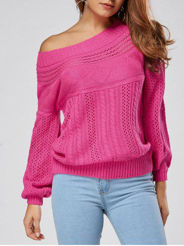 Fancy Casual Hollow Out Cable Knit Sweater - M TUTTI FRUTTI Mobile
