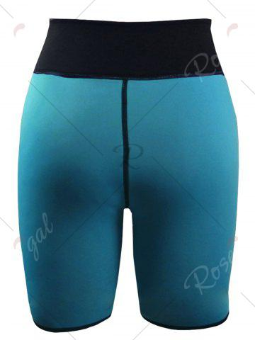 Outfits High Waist Neoprene Sport Shorts - S MALACHITE GREEN Mobile