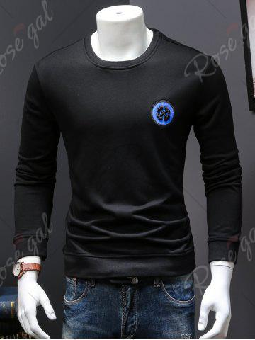 New Back Sequinned Chief Skull Embroidered Sweatshirt - M BLACK Mobile