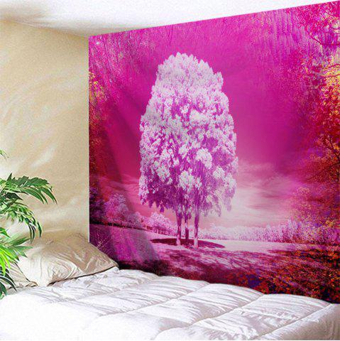 Décor d'art mural Tapis d'impression de forêt de Dreamworld ROSE LEGER Largeur 71 pouces * Longeur 91 pouces