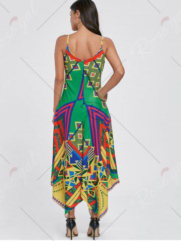 Outfits Asymmetrical Printed Cami Palazzo Jumpsuit - 2XL COLORMIX Mobile