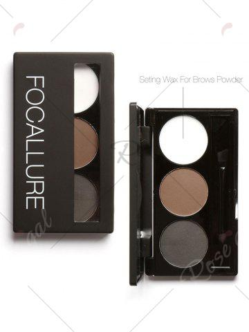 Discount 3 Colors Waterproof Eyebrow Powder Box and Mirror Brush - #02  Mobile