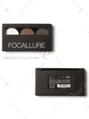 Chic 3 Colors Waterproof Eyebrow Powder Box and Mirror Brush - #02  Mobile
