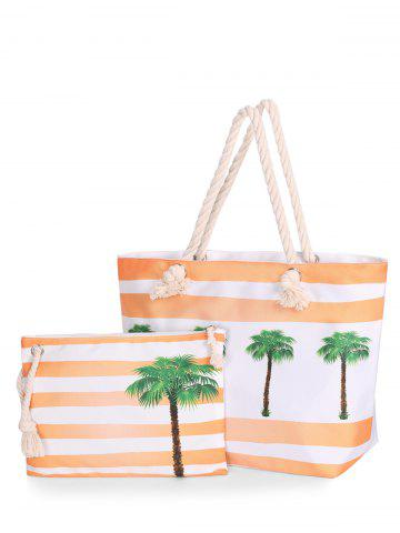 Buy Striped 2 Pieces Shoulder Bag Set BRIGHT ORANGE