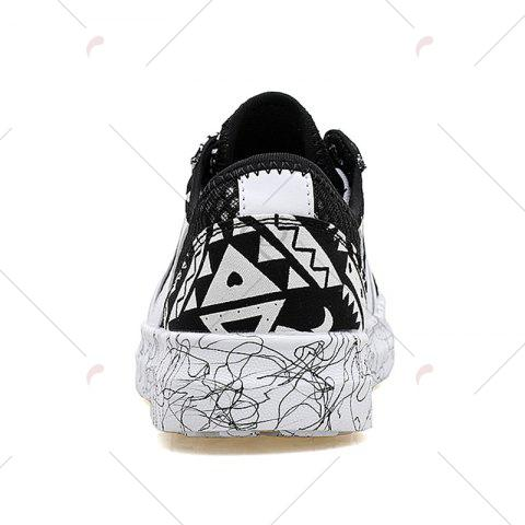 Outfit Breathable Graffitti Mesh Sneakers - 40 BLACK Mobile