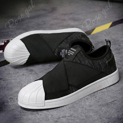 Shops Elastic Band Stretch Fabric Casual Shoes - 40 BLACK Mobile