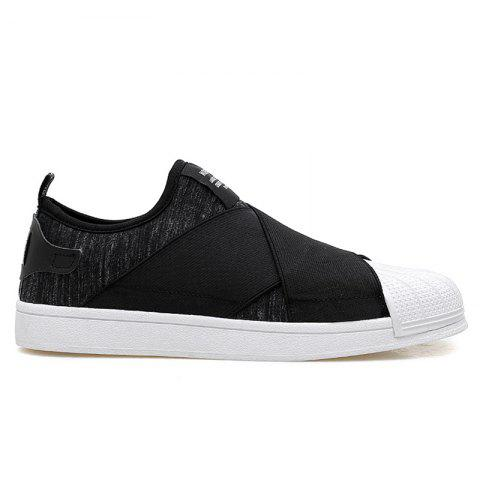 Latest Elastic Band Stretch Fabric Casual Shoes - 40 BLACK Mobile