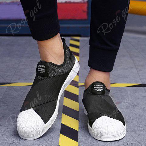 New Elastic Band Stretch Fabric Casual Shoes - 40 BLACK Mobile