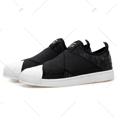 Outfit Elastic Band Stretch Fabric Casual Shoes - 40 BLACK Mobile