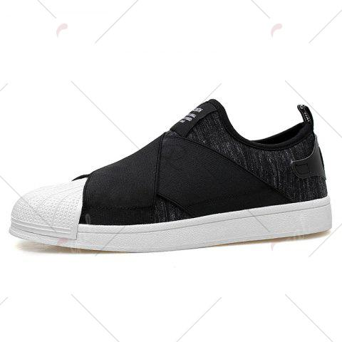 Online Elastic Band Stretch Fabric Casual Shoes - 40 BLACK Mobile