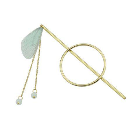 Fashion Alloy Fringed Chain Circle Beads Hair Stick GREEN