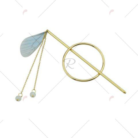 Shop Alloy Fringed Chain Circle Beads Hair Stick - BLUE  Mobile