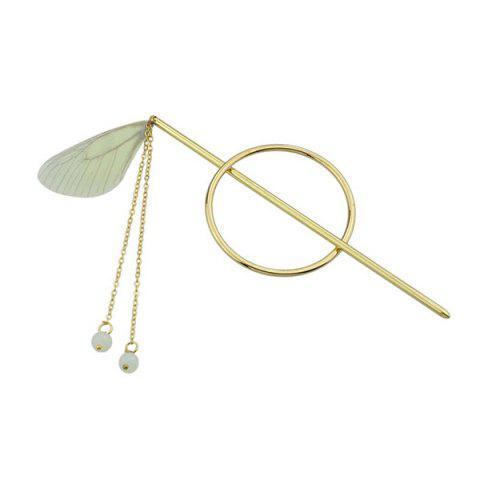 Fashion Alloy Fringed Chain Circle Beads Hair Stick