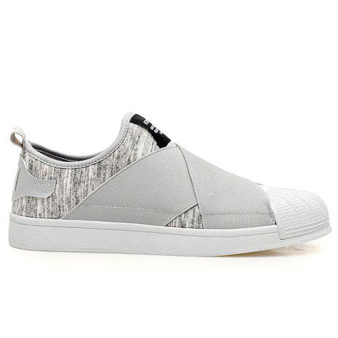Elastic Band Stretch Fabric Casual Shoes - Gray - 40