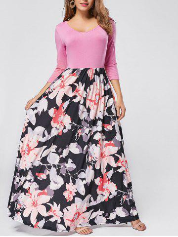 Outfit Floral Scoop Neck Maxi Dress - S PINK Mobile