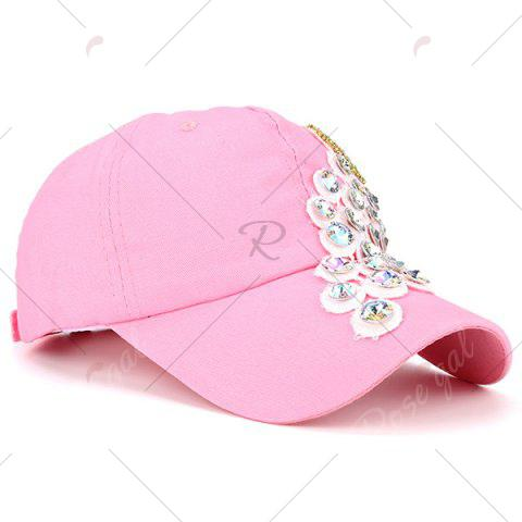 Outfits Grape Design Patchwork Rhinestone Baseball Hat - PINK  Mobile