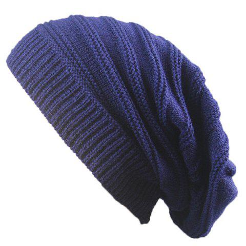 Shop Stacking Striped Ribbing Knitted Beanie Hat - CADETBLUE  Mobile