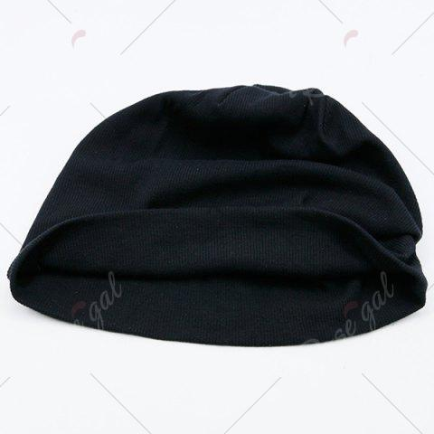 Latest Fall Plain Knitted Pinstripe Beanie - BLACK  Mobile