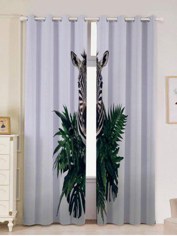 Buy 2Pcs Zebra Pattern Lightproof Window Curtains