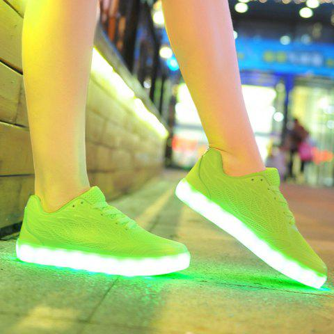 Chic Breathable Led Luminou Athletic Shoes NEON GREEN 38