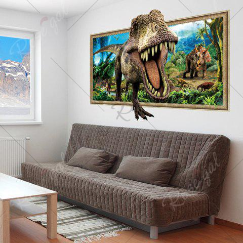 New Decorative 3D Tyrannosaurus Printed Wall Sticker - COLORMIX  Mobile