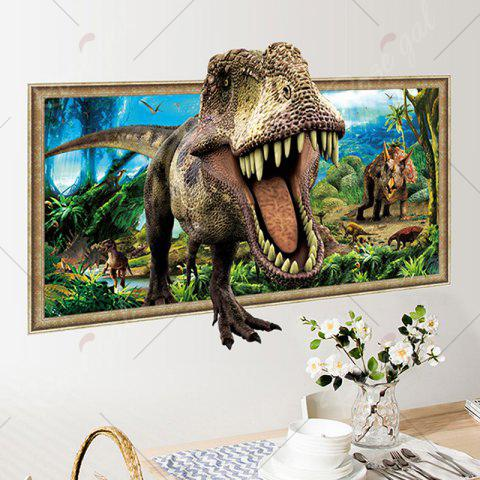 Trendy Decorative 3D Tyrannosaurus Printed Wall Sticker - COLORMIX  Mobile