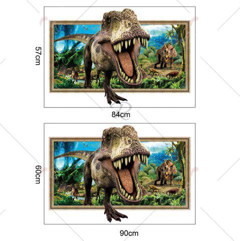 Shop Decorative 3D Tyrannosaurus Printed Wall Sticker - COLORMIX  Mobile