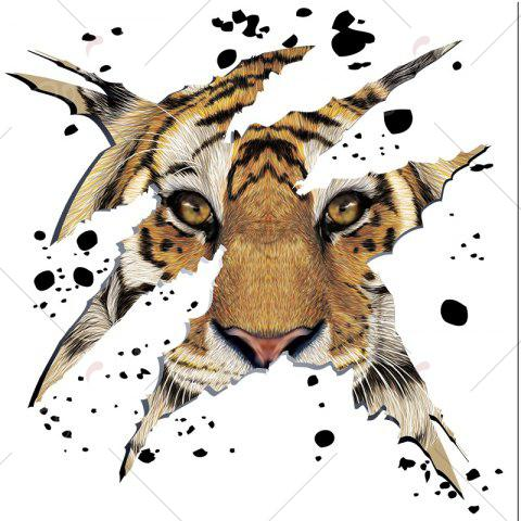 Hot Home Decorative 3D Tiger Head Shape Wall Sticker - LIGHT BROWN  Mobile