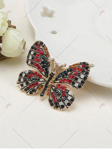 Discount Sparkly Rhinestone Butterfly Brooch - RED  Mobile
