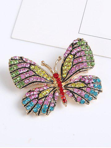 Shops Sparkly Rhinestone Butterfly Brooch - YELLOW  Mobile