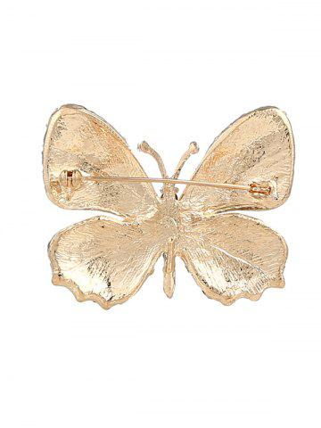 Outfit Sparkly Rhinestone Butterfly Brooch - YELLOW  Mobile