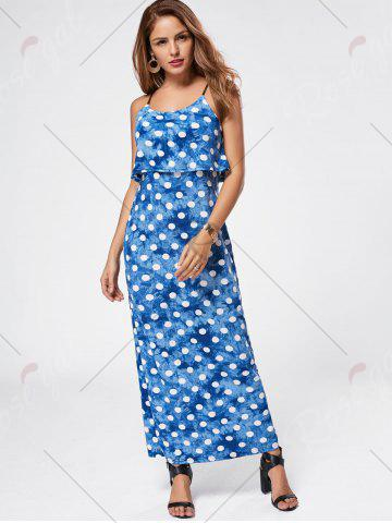 Outfit Maxi Polka Dot Slip Dress - L CLOUDY Mobile