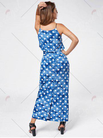 Outfits Maxi Polka Dot Slip Dress - L CLOUDY Mobile