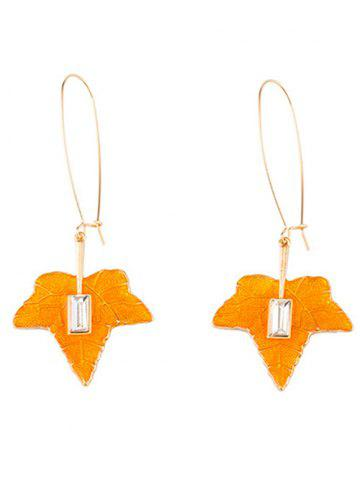 Affordable Maple Leaf Statement Fish Hook Earrings - GOLDEN  Mobile