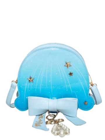 Outfit Star Pattern Bow Crossbody Bag - WINDSOR BLUE  Mobile