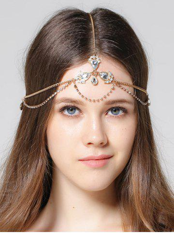 Outfit Forehead Rhinestone Faux Gemstone Head Chain GOLDEN