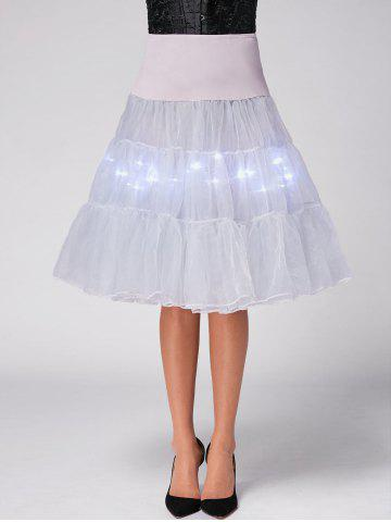 Flounce Light Up Bubble Cosplay Jupe Gris Clair XL
