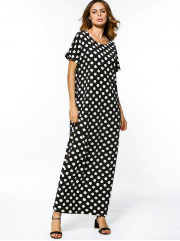 Polka Dot Casual Loose Maxi Dress